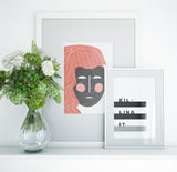Modern Abstract Face Art Printable - Hannah - Little Gold Pixel