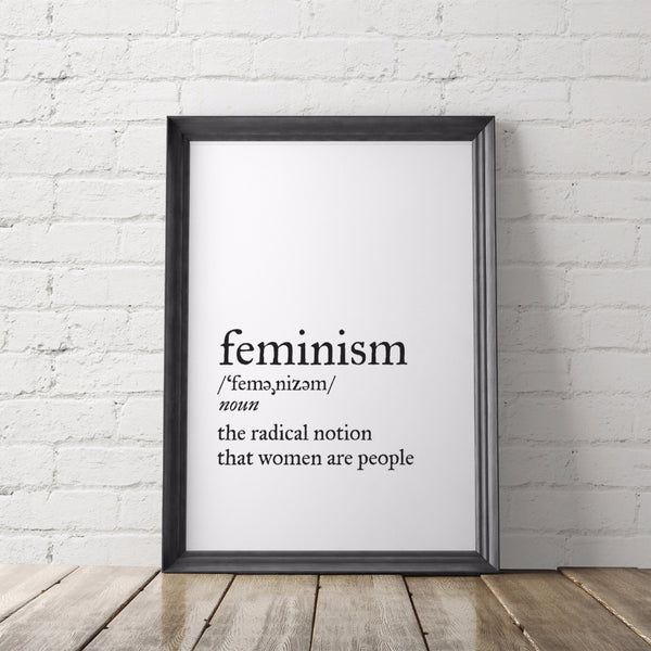 Feminism Dictionary Definition Art Printable - Little Gold Pixel