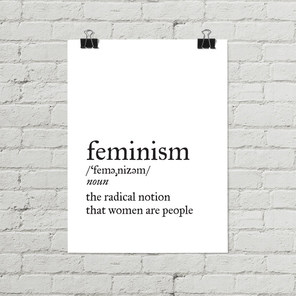 Feminism Definition Poster - Little Gold Pixel