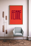 Femme Art Printable - Little Gold Pixel