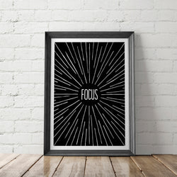 FOCUS art printable - Little Gold Pixel