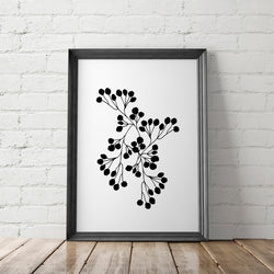 Botanical Silhouette Art Printable - Little Gold Pixel