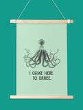Dancing Octopus Art Printable - Little Gold Pixel