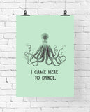 Dancing Octopus Art Printable