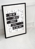 Let's Do This Motivational Art Printable - Little Gold Pixel
