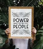 Power to the People Art Printable - Little Gold Pixel