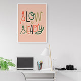SLOW & STEADY art printable - Little Gold Pixel