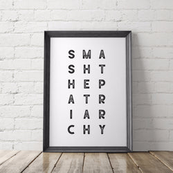 Smash the Patriarchy Feminist Art Printable - Little Gold Pixel