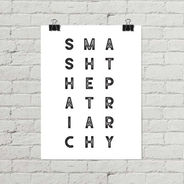 Smash the Patriarchy Feminist Poster - Little Gold Pixel