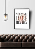 You & Me Printable Art - Little Gold Pixel