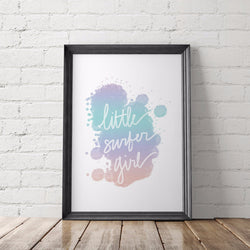 Little Surfer Girl Art Printable