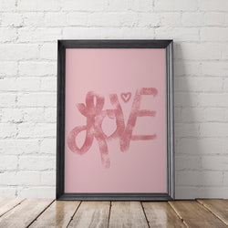 Love Art Printable - Little Gold Pixel