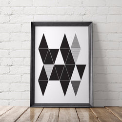 Abstract Triangles Art Printable, No. 1