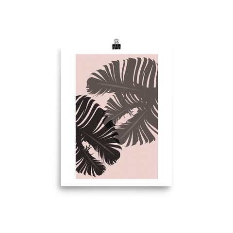 Tropical Leaf Poster - Little Gold Pixel