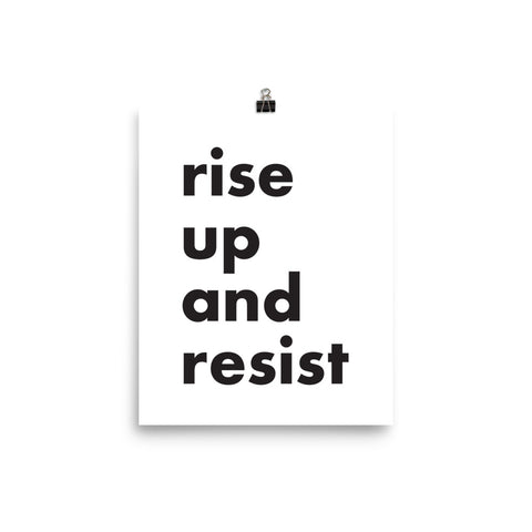 Rise Up and Resist Protest Poster - Little Gold Pixel