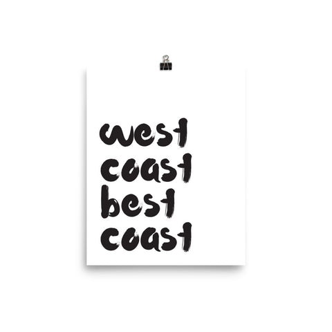 West Coast Best Coast Poster - Little Gold Pixel
