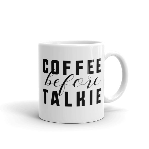 Coffee Before Talkie Mug - Little Gold Pixel