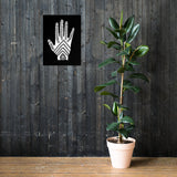 Henna Tattoo Hand Poster - Little Gold Pixel