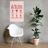 In This House Resistance Poster in Pink & Red - Little Gold Pixel