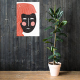 Abstract Female Face Poster - Little Gold Pixel