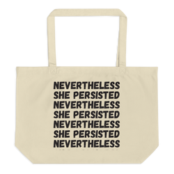 SHE PERSISTED tote bag - Little Gold Pixel
