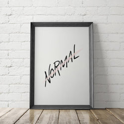 (NOT) NORMAL / Art Printable - Little Gold Pixel