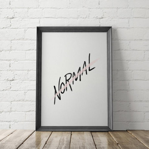 NOT NORMAL Art Printable - Little Gold Pixel