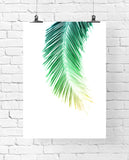 Palm Leaf Art Printable - Little Gold Pixel