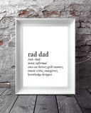 Dad Definition Gift Art Printable