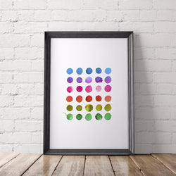 Watercolor Rainbow Art Printable