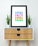 Watercolor Rainbow Art Printable - Little Gold Pixel