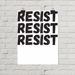Resist Protest Poster - Little Gold Pixel