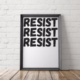 Resist Feminist Printable Poster - Little Gold Pixel