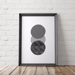 Geometrical Circles Scandinavian Art Printable - Little Gold Pixel