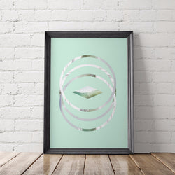 Three Circles Abstract Art Printable