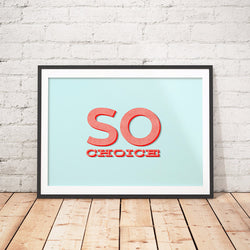 SO CHOICE / Art Printable - Little Gold Pixel