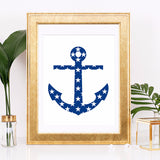 Nautical Anchor Art Printable - Little Gold Pixel - 1
