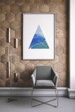 Nature Lover Geometric Printable Art, Mountains - Little Gold Pixel