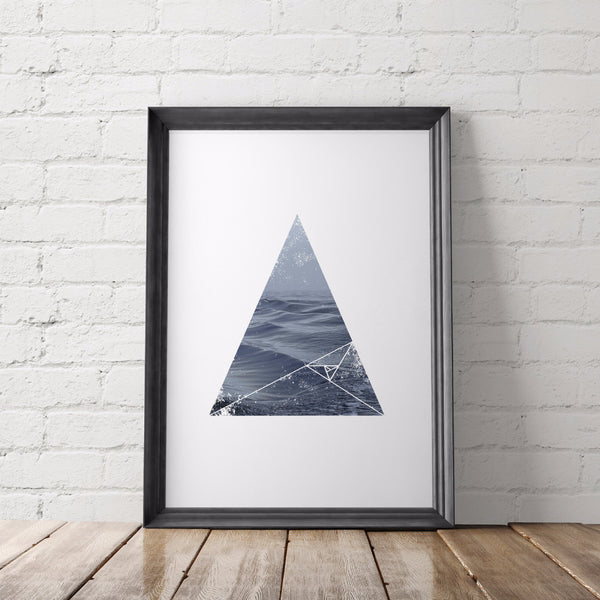 Nature Lover Geometric Printable Art, Ocean Waves