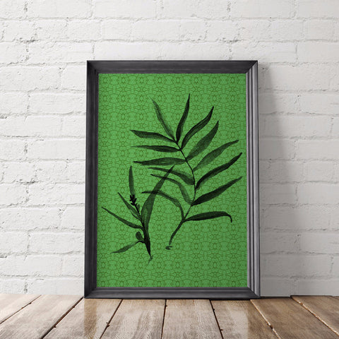 Tropical Leaf Art Printable - Little Gold Pixel