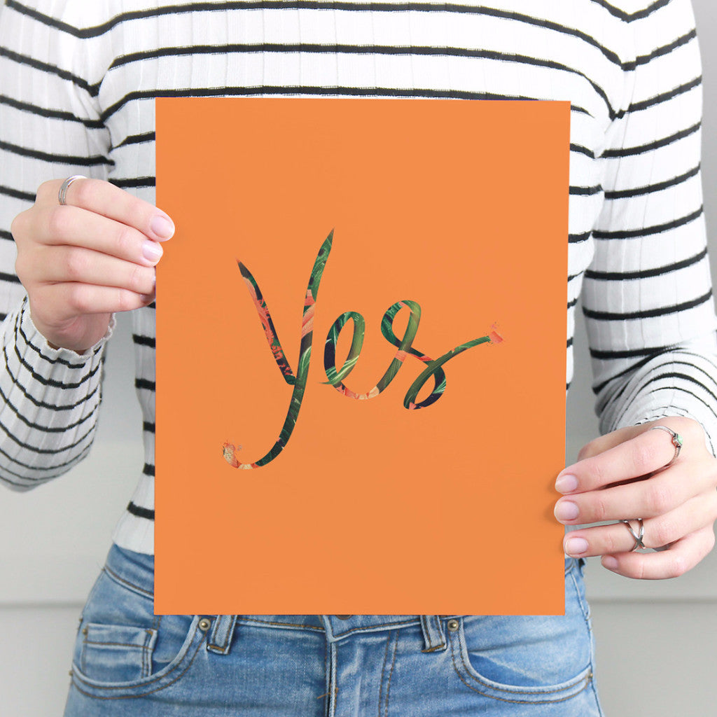 Tropical Orange Yes Art Printable