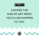 Turn Any Printable into a Physical Poster! - Little Gold Pixel