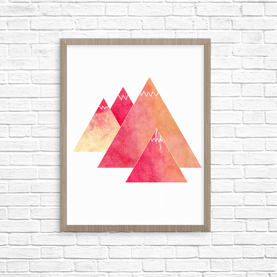 Watercolor Mountains Adventure Art Printable - Little Gold Pixel - 1