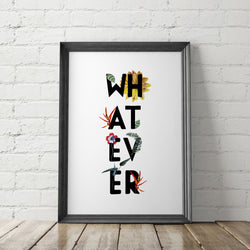 Whatever Boho Art Printable - Little Gold Pixel
