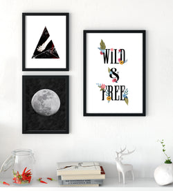 WITCHY WOMAN boho gallery wall starter pack - Little Gold Pixel