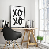 XOXO Minimalist Art Printable - Little Gold Pixel - 1