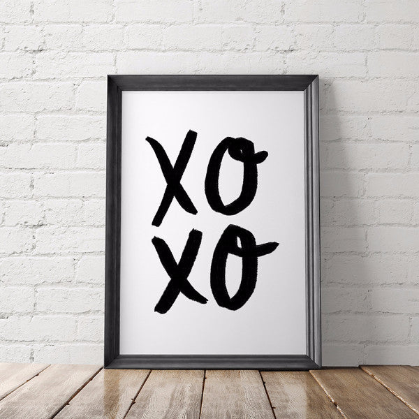 XOXO Minimalist Art Printable - Little Gold Pixel