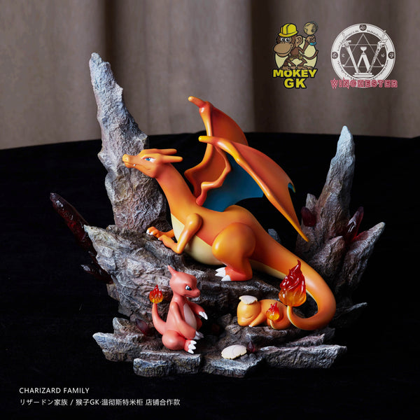 Winchester & Monkey GK Studio Charmander Evolution Family (1596534358087)