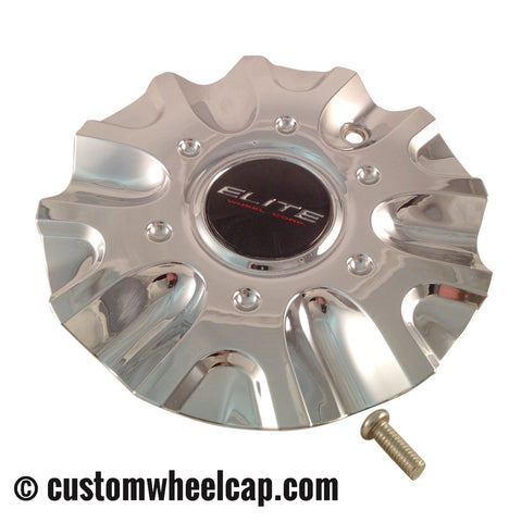 Elite Phase 6 Wheel Center Cap M-653 5640-75 Chrome