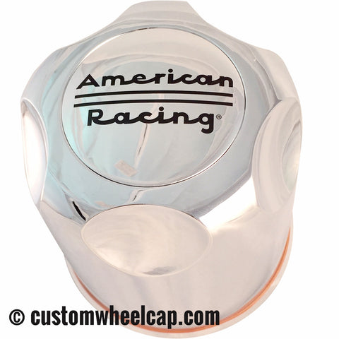 "American Racing Center Caps Chrome Push Thru 4.25"" TRUCK/SUV"